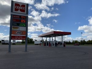 Cenex gas station sign and gas pump