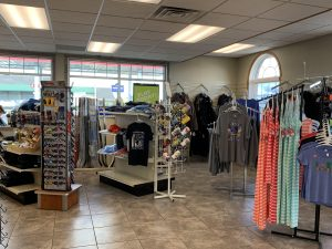 Apparel and accessories section in Cenex