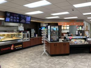 Deli and A&W section of Cenex