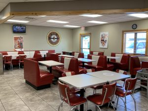 A&W seating area