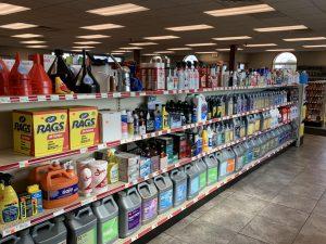 Interior of Cenex car fluids aisle